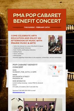 PMA Pop Cabaret Benefit Concert