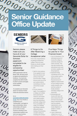 Senior Guidance Office Update