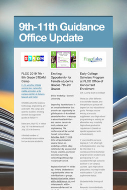9th-11th Guidance Office Update