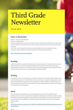 Third Grade Newsletter