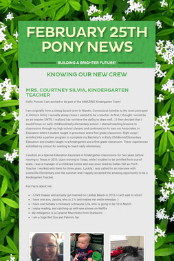 February  25th Pony News
