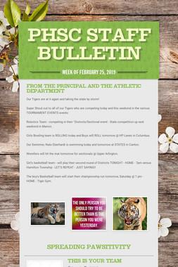 PHSC Staff Bulletin
