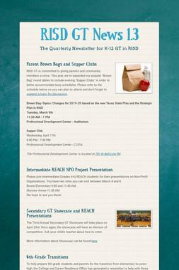 RISD GT News 1.3