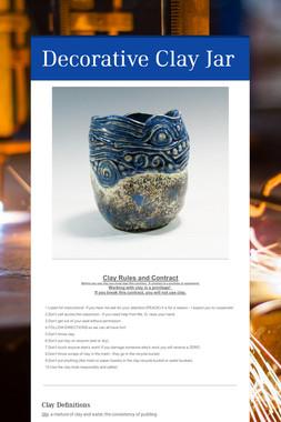Decorative Clay Jar
