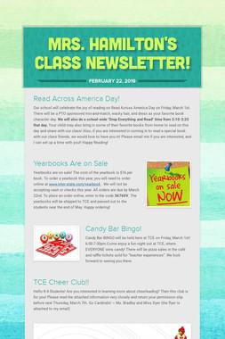 Mrs. Hamilton's Class Newsletter!