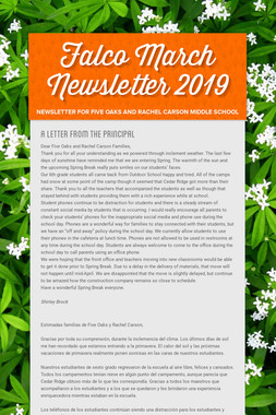 Falco March Newsletter  2019
