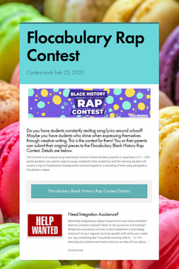Flocabulary Rap Contest