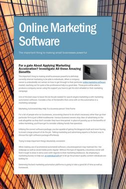 Online Marketing Software