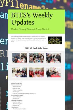 BTES's  Weekly Updates