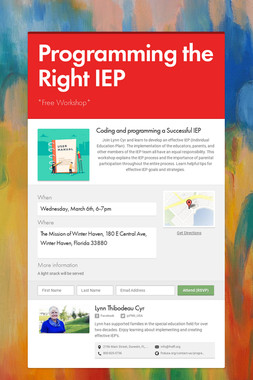 Programming the Right IEP