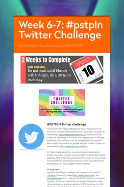 Week 6-7: #pstpln Twitter Challenge