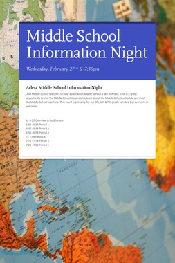 Middle School Information Night