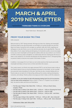 March & April 2019 Newsletter