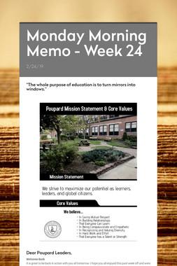 Monday Morning Memo - Week 24