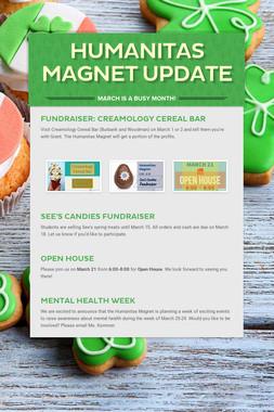 Humanitas Magnet Update