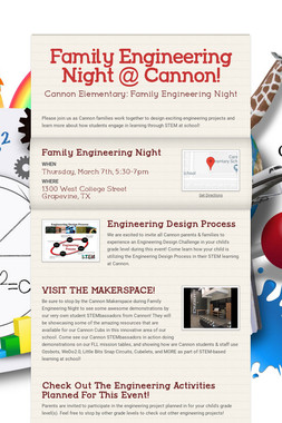 Family Engineering Night @ Cannon!