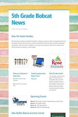 5th Grade Bobcat News