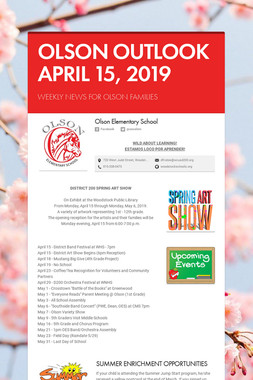 OLSON OUTLOOK   APRIL 15, 2019