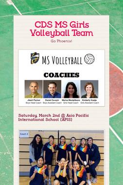 CDS MS Girls Volleyball Team