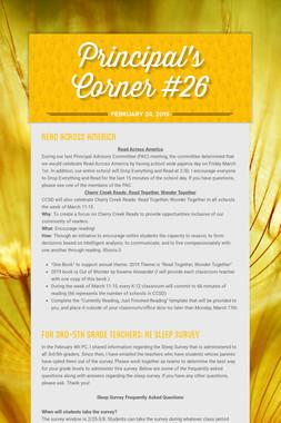 Principal's Corner #26