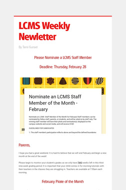 LCMS Weekly Newletter