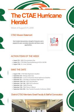 The CTAE Hurricane Herald