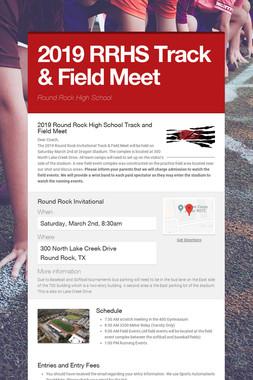 2019 RRHS Track & Field Meet