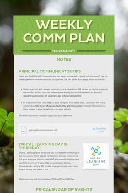 Weekly Comm Plan