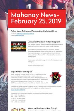 Mahanay News- February 25, 2019