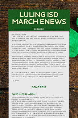 Luling ISD March ENews