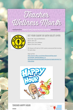 Teacher Wellness Month