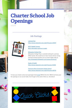 Charter School Job Openings