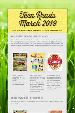 Teen Reads March  2019