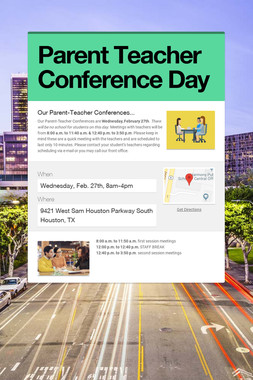 Parent Teacher Conference Day