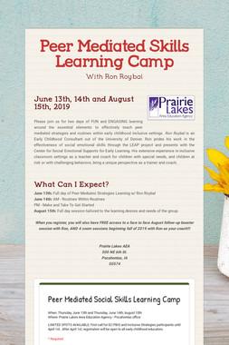 Peer Mediated Skills Learning Camp