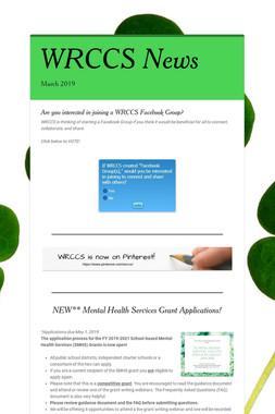 WRCCS News