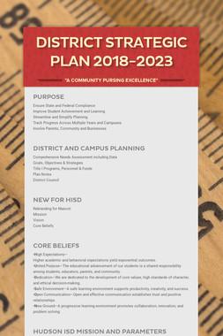 District Strategic Plan 2018-2023