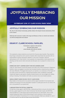 Joyfully Embracing Our Mission