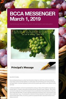 BCCA MESSENGER  March 1, 2019