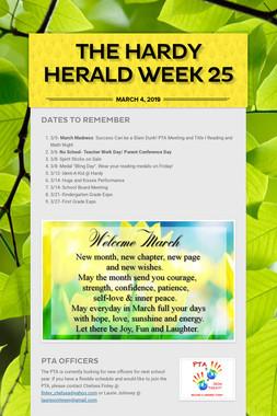 The Hardy Herald Week 25