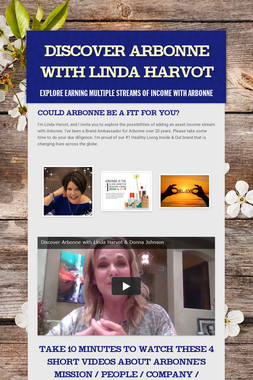 Discover Arbonne with Linda Harvot