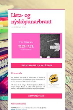 Lista- og nýsköpunarbraut 1.- 2. ár