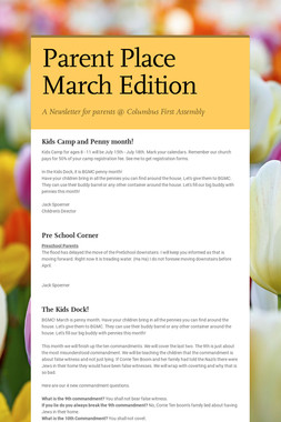 Parent Place March Edition