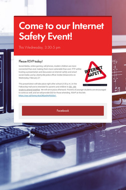 Come to our Internet Safety Event!