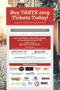 Buy TASTE 2019 Tickets Today!