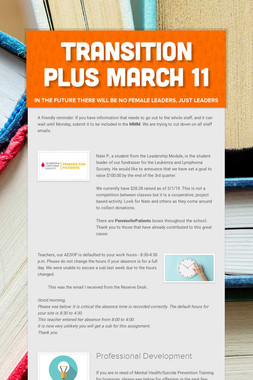 Transition Plus         March 11