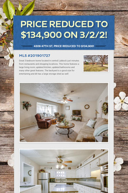 Price Reduced to $134,900 on 3/2/2!