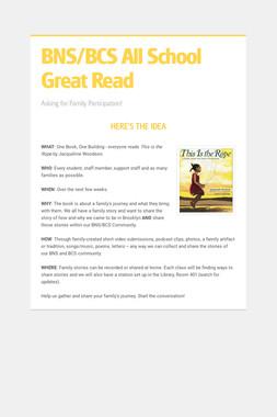 BNS/BCS All School Great Read