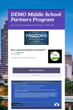 DEMO Middle School Partners Program