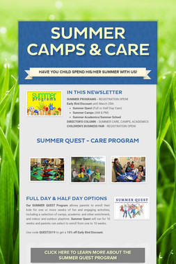 Summer Camps & Care